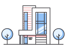 Graphic of an office building